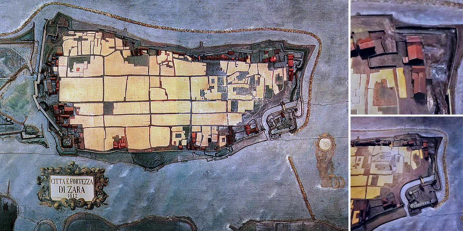 Antique model of Zadar 1612